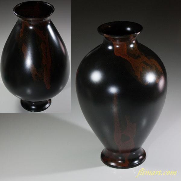 高岡銅器峰雲鋳銅花瓶