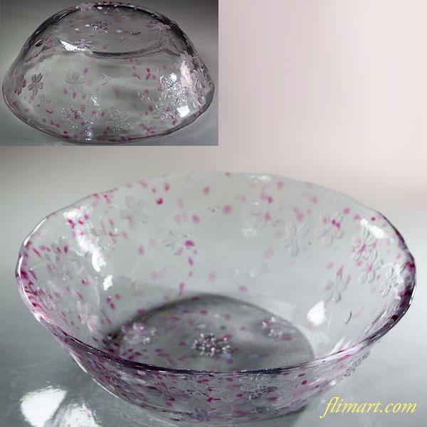 石塚硝子花のたよりガラス菓子鉢