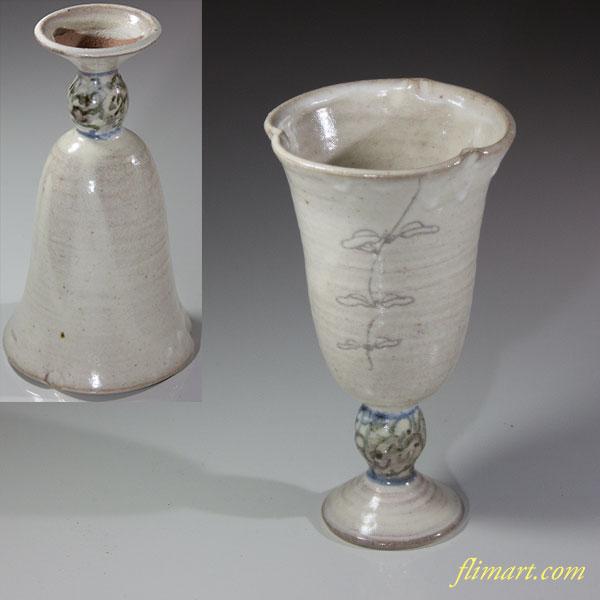 陶器製シャンパングラス