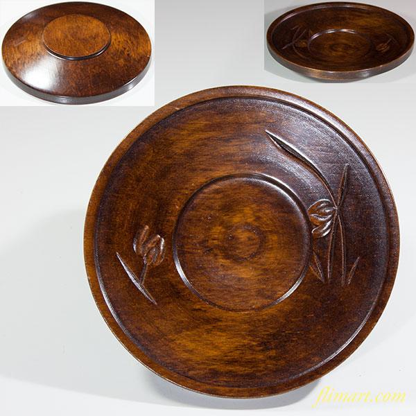 木製茶托W6139