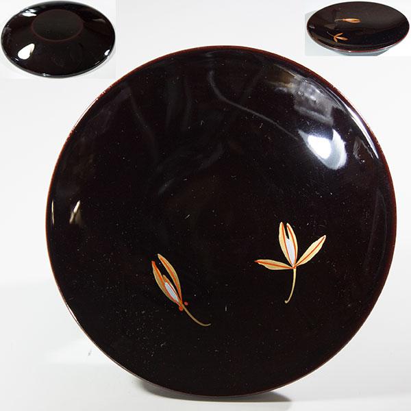木製山中漆器銘々皿W6147