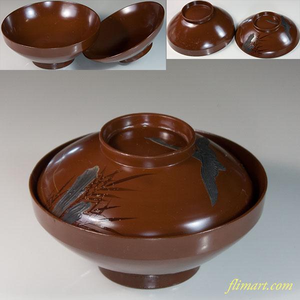 木製漆器吸物椀W6177