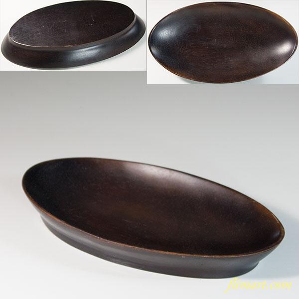 木製舟形菓子皿トレイ