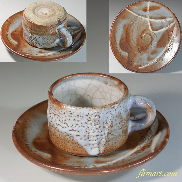 志野碗皿W6205