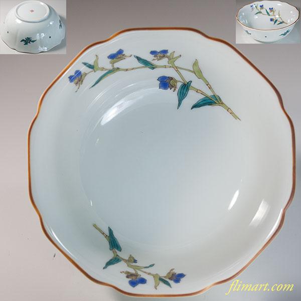 九谷文山六寸鉢