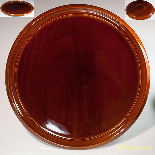 春慶塗一尺一寸丸盆W6513