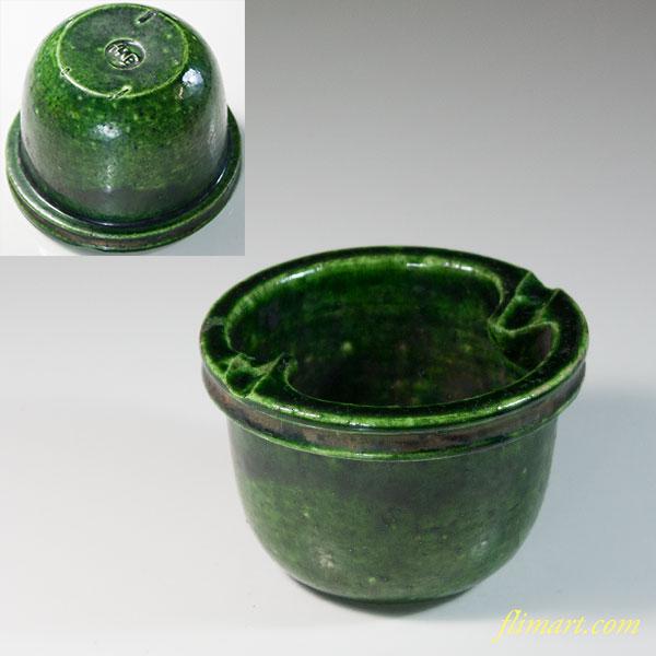 交趾緑釉灰皿