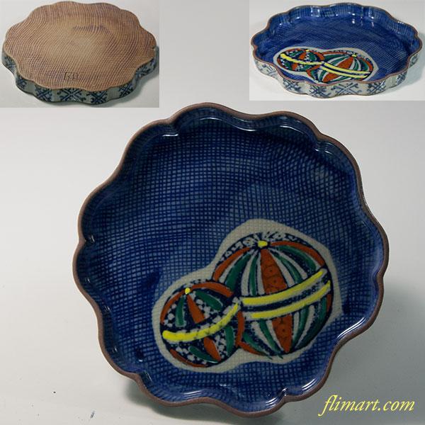 手毬銘々皿W6261