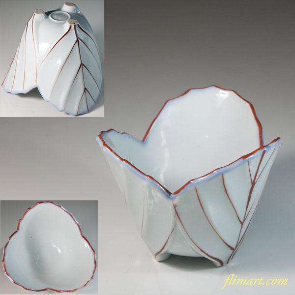 葉型小鉢W6278