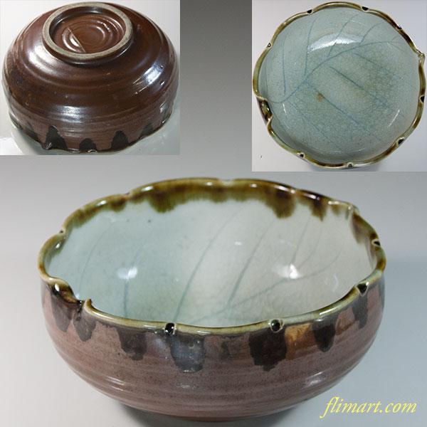 葉型五寸鉢W6283