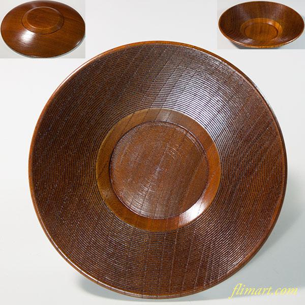 木製茶托W6306