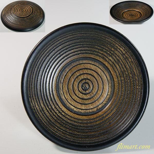 木製茶托W6371