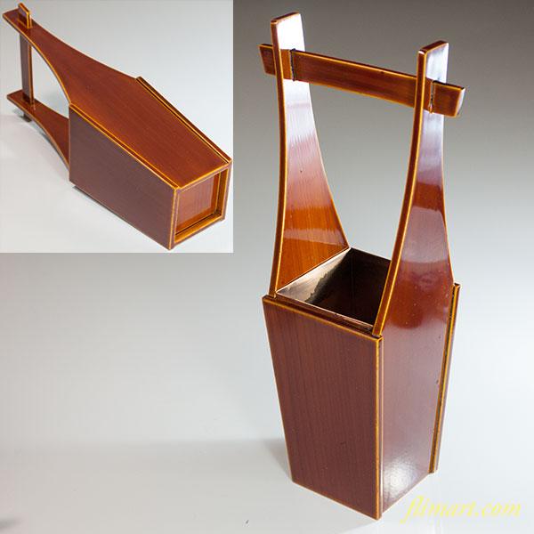 春慶塗釣瓶型花器W6372
