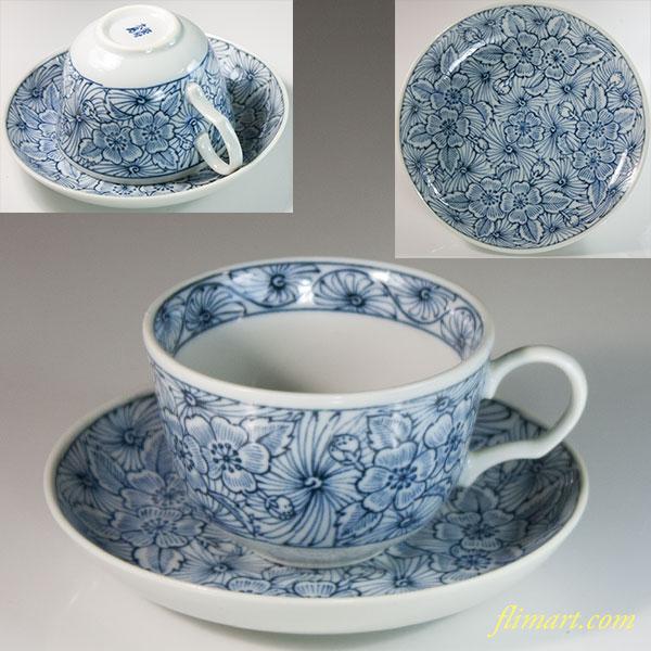 染付大島碗皿W6387