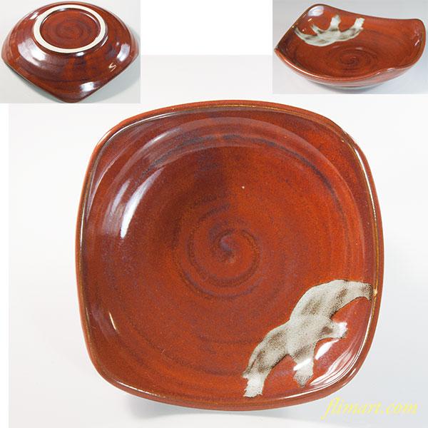 鉄釉小皿W6459