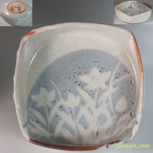 安藤日出武志野角菓子鉢W6388