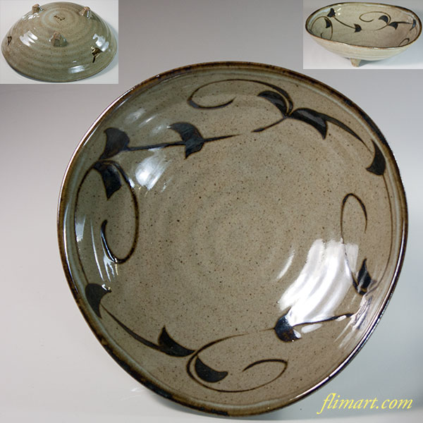 唐津焼西峰三つ足鉢