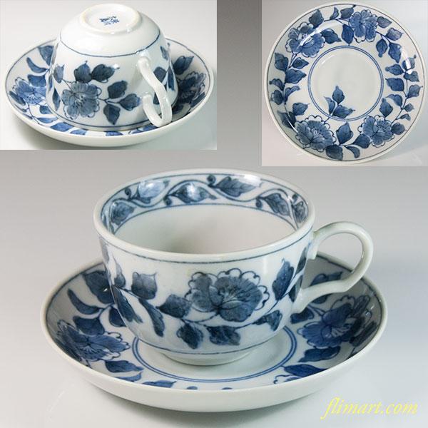 染付大島碗皿W6410