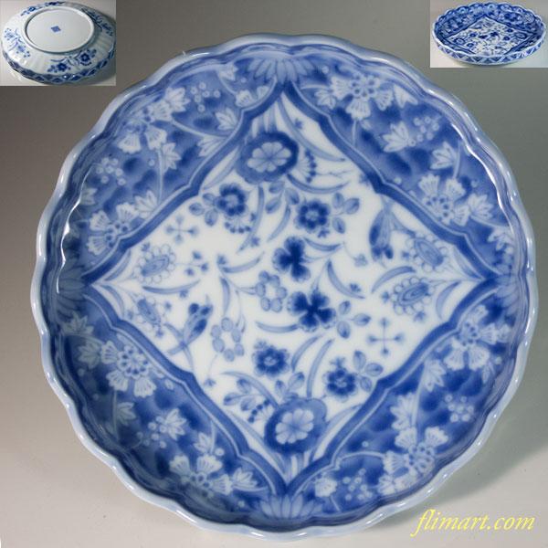 三洋陶器龍峯五寸半浅鉢W6434