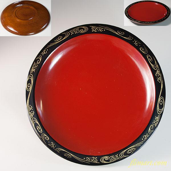 木製漆器銘々皿W6437