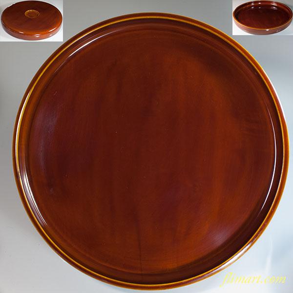 春慶塗一尺一寸丸盆W6518