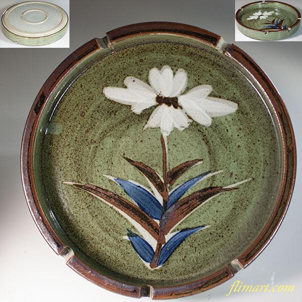 花柄灰皿W6462