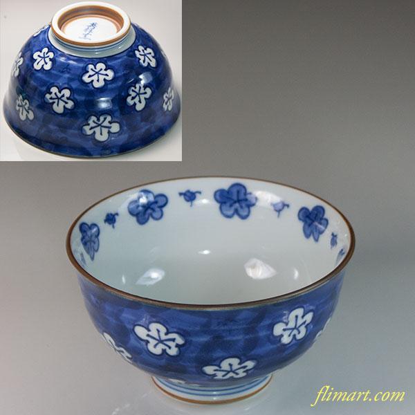 英祥窯梅文飯茶碗