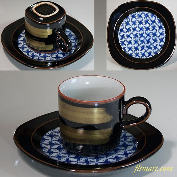 九谷焼本金刷毛目椀皿