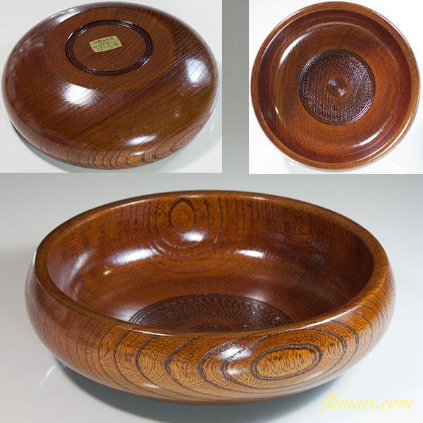 山中塗欅菓子鉢W6481