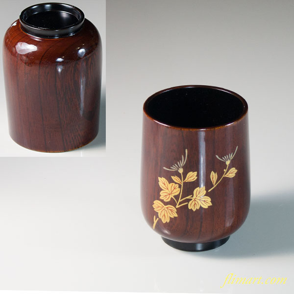 木製漆器湯呑W6486