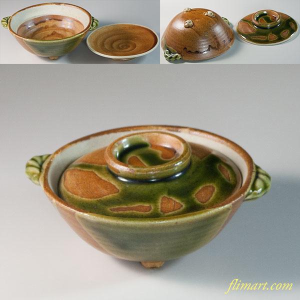 前畑陶器蓋付小鉢