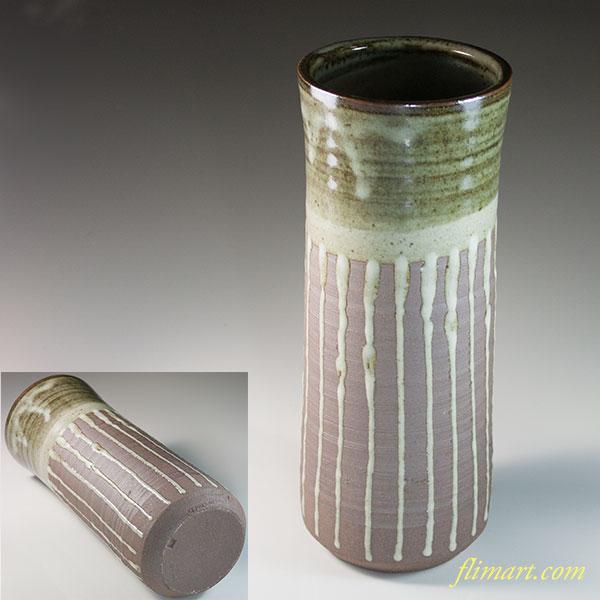 津路窯花瓶W6495