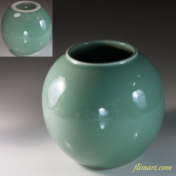 高島朝生青磁花瓶