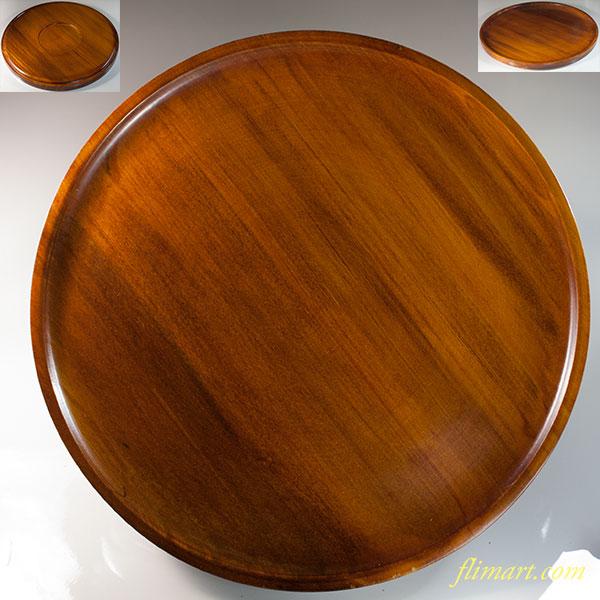 木製一尺丸盆W6572