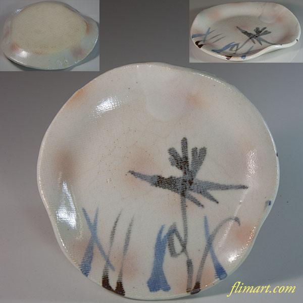 萩焼銘々皿W6569