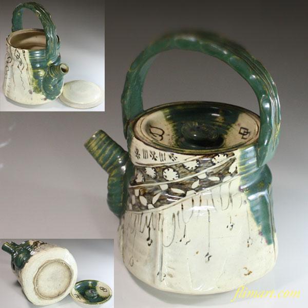 織部土瓶W6578