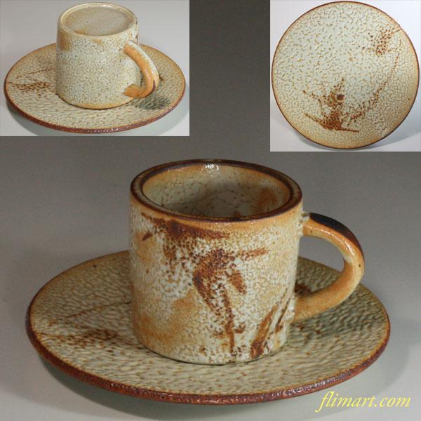志野碗皿W6579