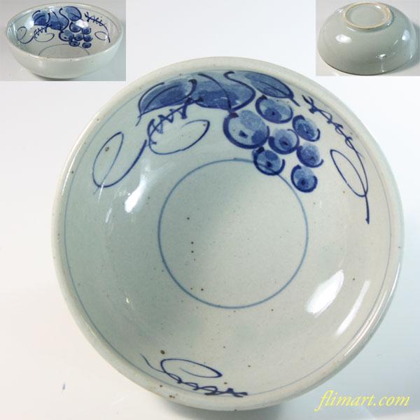 葡萄柄小鉢W6576