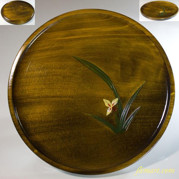木製九寸丸盆W6984