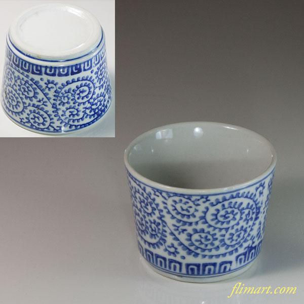 蛸唐草蕎麦猪口W6626