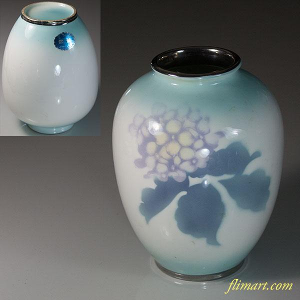 富士七宝陶器紫陽花花瓶
