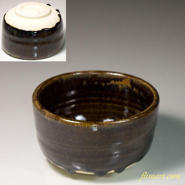 飴釉抹茶碗W6637