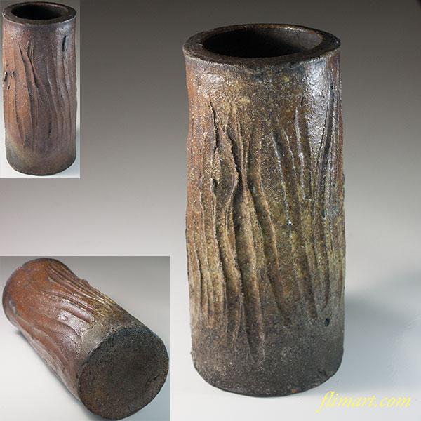 信楽焼花瓶W6659