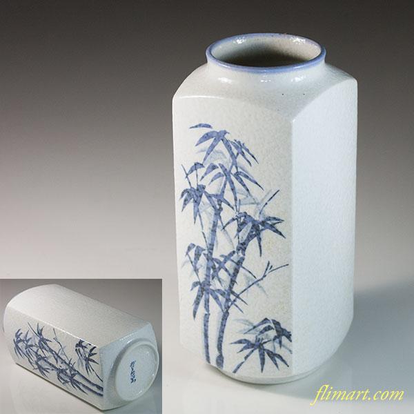 有田焼哲三郎角花瓶