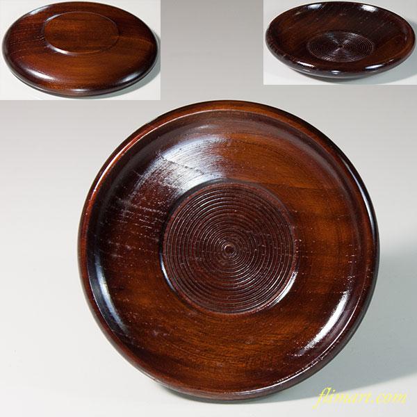 木製漆器茶托W6717