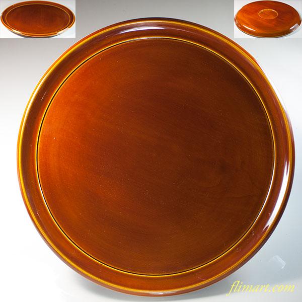 春慶塗一尺丸盆W6703