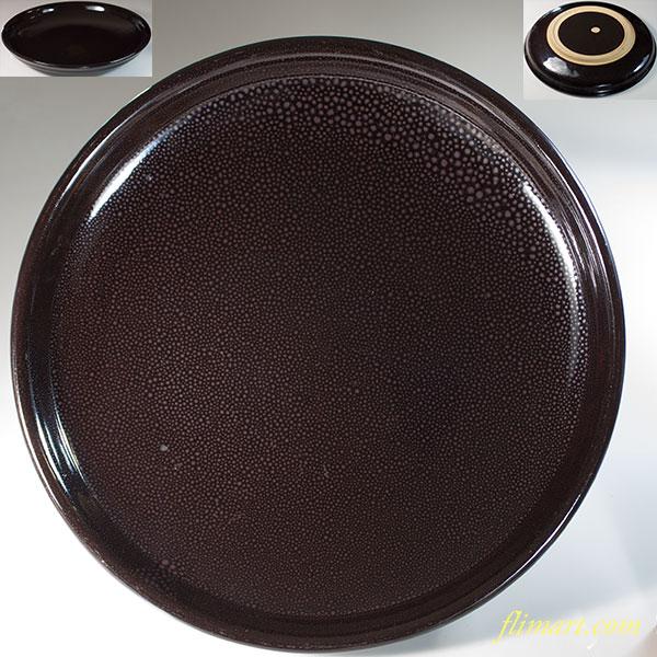 油滴天目八寸半皿