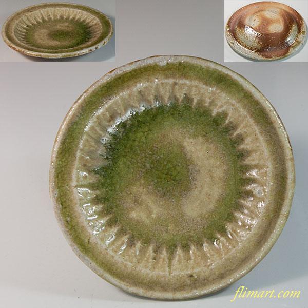 信楽焼小皿W6718