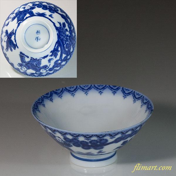 龍鳳唐子飯茶碗