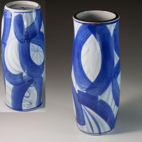 染付花瓶W6732